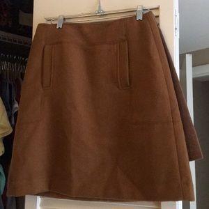 Loft brown wool skirt